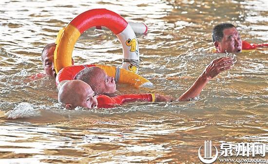 泉州市多个单位联合开展水上救援应急演练活动