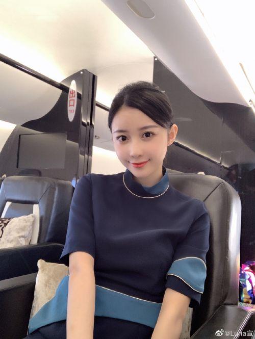 潘玮柏老婆luna宣云微博个人资料介绍 空姐luna宣云私房照