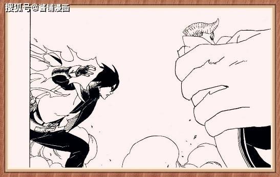 博人传漫画50话:大筒木一式不敢对博人出手,因为需要桃式帮忙