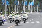 福州交警騎警正式亮相