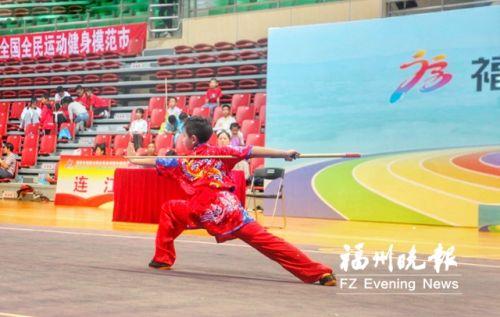 福州市运会武术套路比赛连江斩获10枚金牌成大赢家
