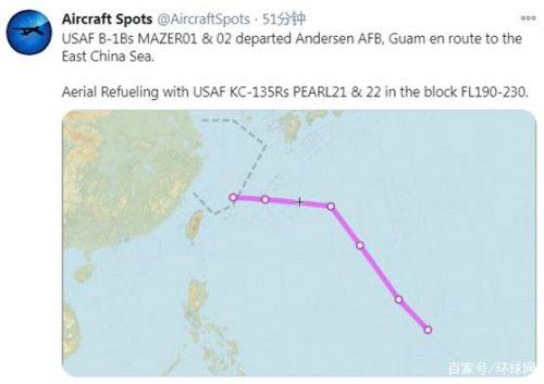 美军两架轰炸机被曝现身东海上空怎么回事 美军两架轰炸机执行什么任务