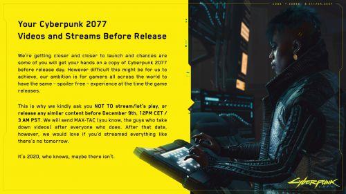 《赛博朋克2077》已经偷跑 官方恳请玩家不要剧透