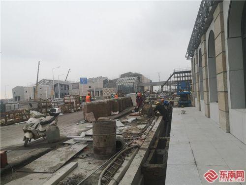 福平铁路开通在即 平潭站正进行最后施工