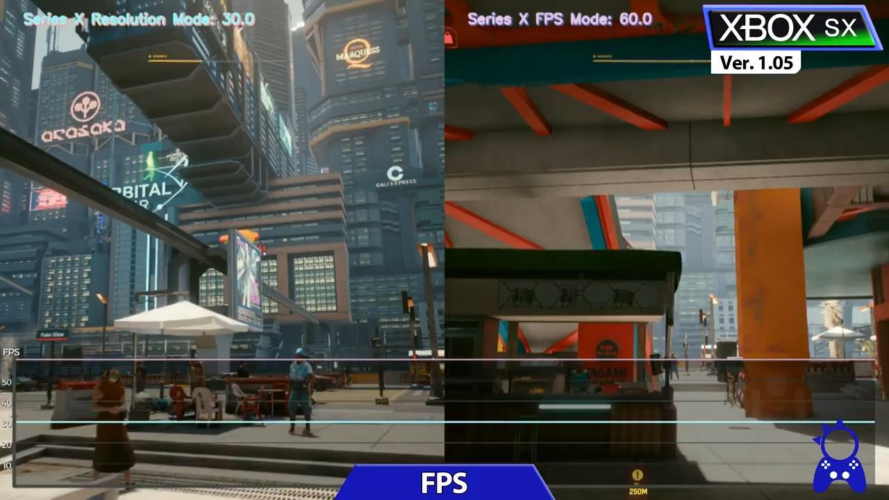 《賽博朋克2077》1.05更新主機版對比 性能改善明顯