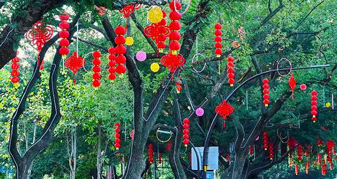 福州:張燈結彩迎新春