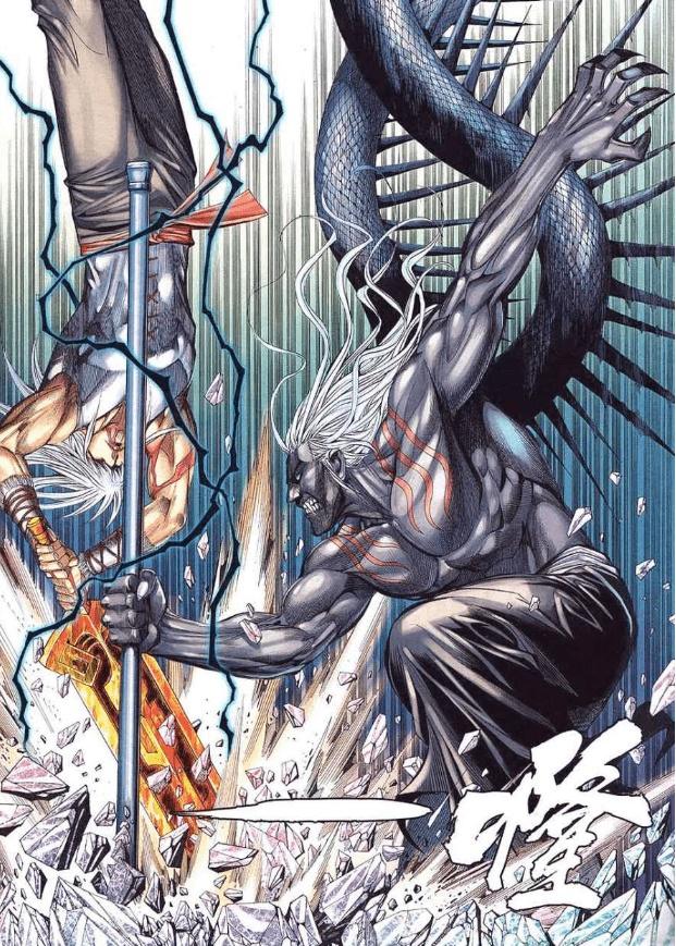 漫画武庚纪:人类与神族的战力天花板,子羽vs黑龙天,结局并不意外