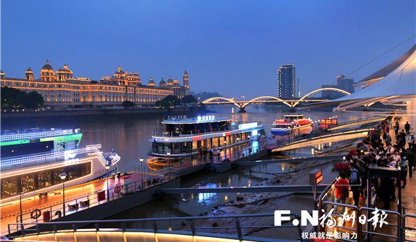 福州提升城市品质 闽江两岸串起超9公里闪亮夜景