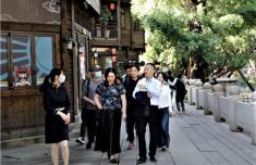 福建省步行街专委会调研福州上下杭步行街改造提升状况