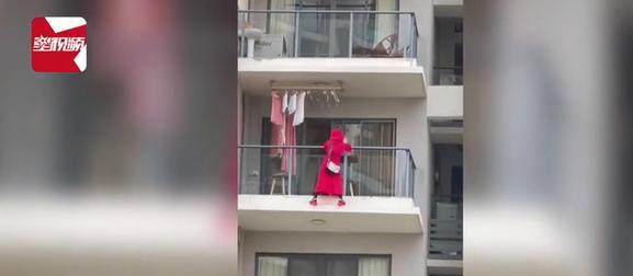红衣女子三亚坠亡一层楼人都搬走 坠楼女子不是第一次在阳台外跳舞