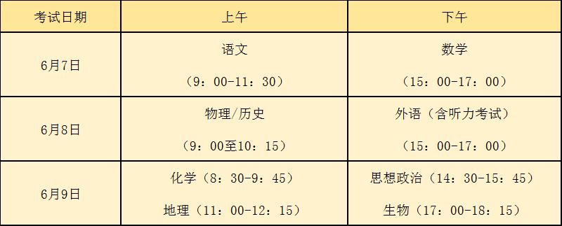 2021年福建省普通高等学校招生工作实施细则发布 6月7日一9日考试