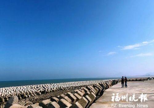 """福州滨海新城环海景观带""""芳容""""初现"""